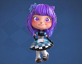 Violet - Lolita Girl 3D model