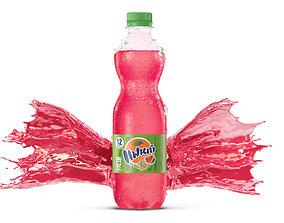 SODA Splash bottle Packshot 3D beverage