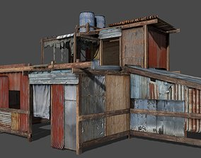 Lowpoly shanty house 3D model low-poly