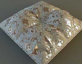 3D Brocade Pillow Low Poly