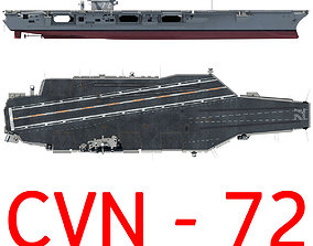 cvn72 USS Abraham Lincoln Aircraft Carrier CVN-72 3D