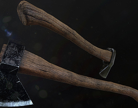 Axe PBR 3D model game-ready