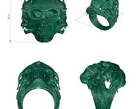 Ring skull Ring Jewelry size german 18 19 20 21 3D model