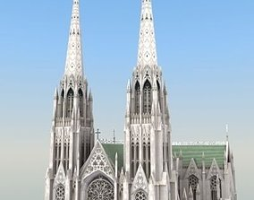 3D model Saint Patricks Cathedral NY