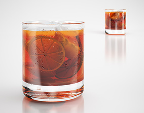 Cocktail drink whiskey 3D model