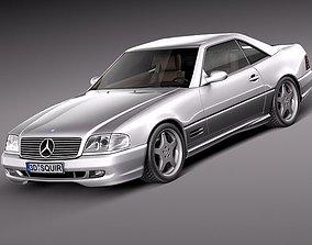 Mercedes SL500 AMG- r129 1989 - 2001 3D Model