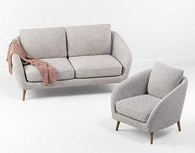 3D Hanna sofa with chair