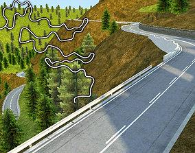 Hill Race Track 3D model