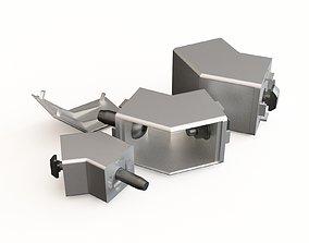 Profile aluminium degre connector 3D