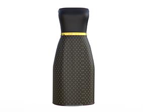 gown Strapless Dress 3D