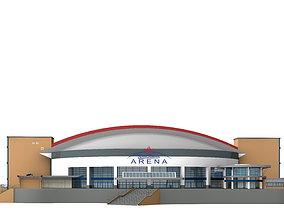 3D architecture football stadium Arena Oberhausen