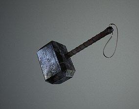 Mjolnir Thor Hammer 3D model low-poly