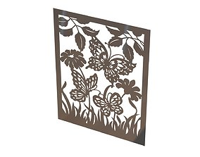 Butterfly wall picture 3D printable model