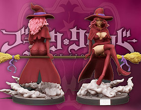 Black clover - vanessa anoteca 3d print statue - witch 1