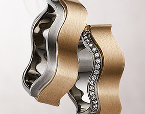 3D print model wedding ring 099