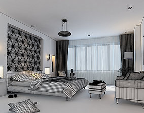 3D model Bedroom modern pillow