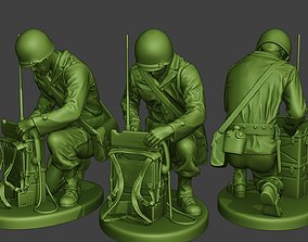 American engineer soldier ww2 Crouch3 3D printable model
