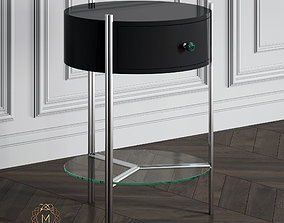 Black Bedside Table by My Imagination 3D