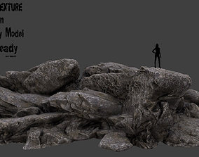 landscape 3D asset low-poly Rocks