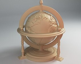 Engraved Globe Stl 3D printable model