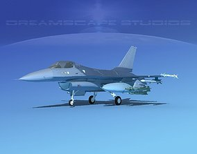 Gen Dyn F-16A Falcon Unmarked 3D model