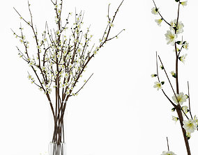 3D Branches in a vase flower