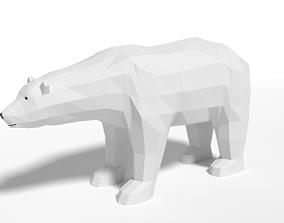 3D model Low Poly Cartoon Polar Bear