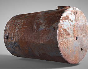 Rusted water tank 3D asset