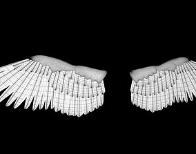 3D asset feathered wings