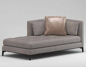 Grey Tapestry Sofa Set 3D model