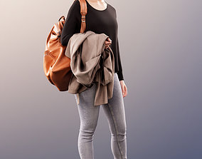 3D model 11451 Celine - Casual Smiling Woman with Bag 4