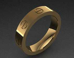 3D print model Cartier Style Band Ring With 8 5