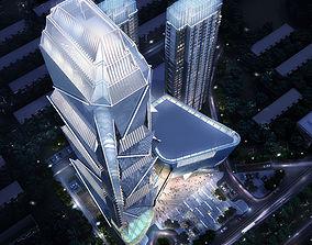 3D Skyscraper Business Center flat