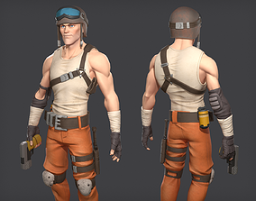 3D asset low-poly Soldier game ready character