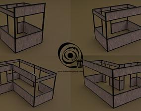 3D model Stall stand Set 4M1T 04 R