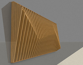 Parametric wall decor wood panels 3D model low-poly