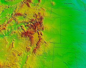 USA 3D terrain model