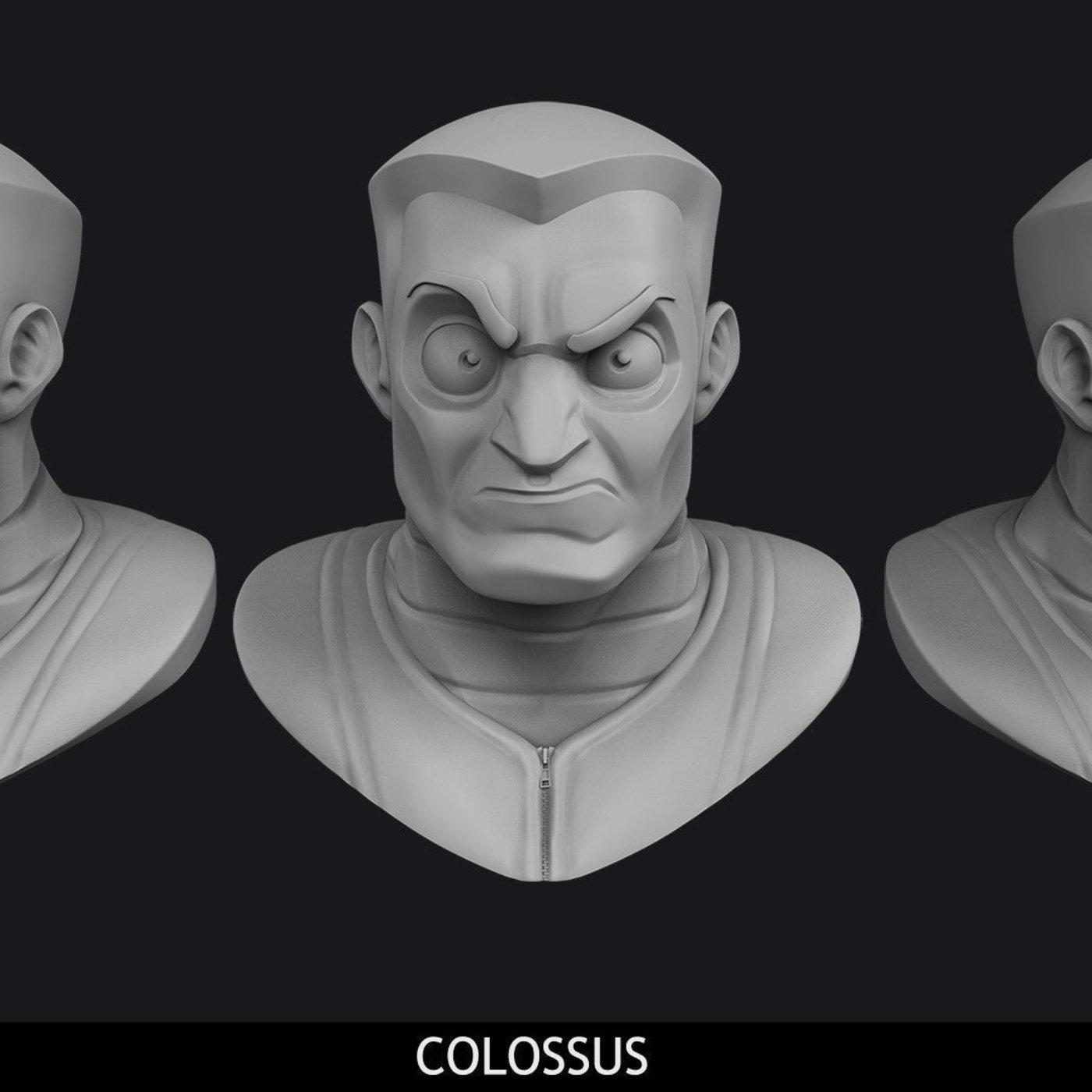 Cartoon Colossus X-Men