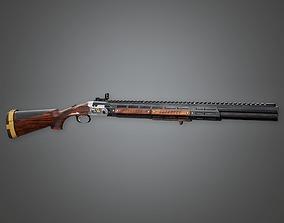 3D asset game-ready FPS Modern Shotguns - Outlaw
