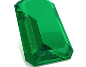 3D printable model Emerald Gem - Emerald Cut