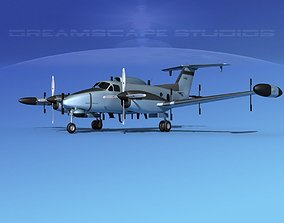 3D model Beechcraft RC-12N Guardrail USAF 2