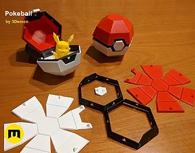 3D printable model Foldable Pokeball Box Decoration
