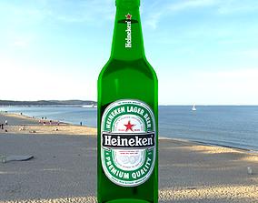 Heineken Beer Bottle drunk 3D model