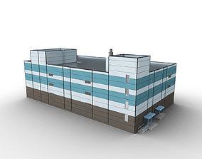 3D asset Car Parking Building 6
