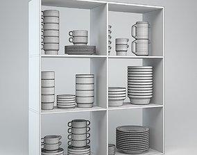 3D model Porcelain Tableware Set TC100