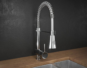 3D model Benissa Pull Out Chef Kitchen Tap