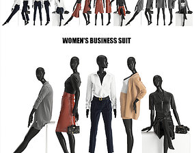3D model womens business suits
