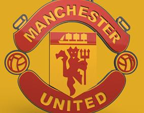 Manchester united football club emblem 3D