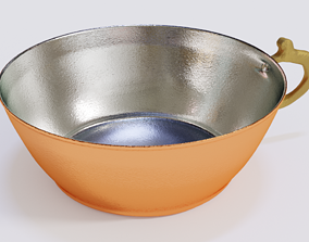 Copper Bowl Low-High-Poly 3D model realtime PBR