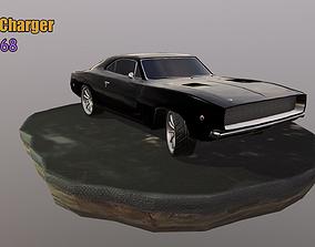 3D asset 1968 Dodge charger